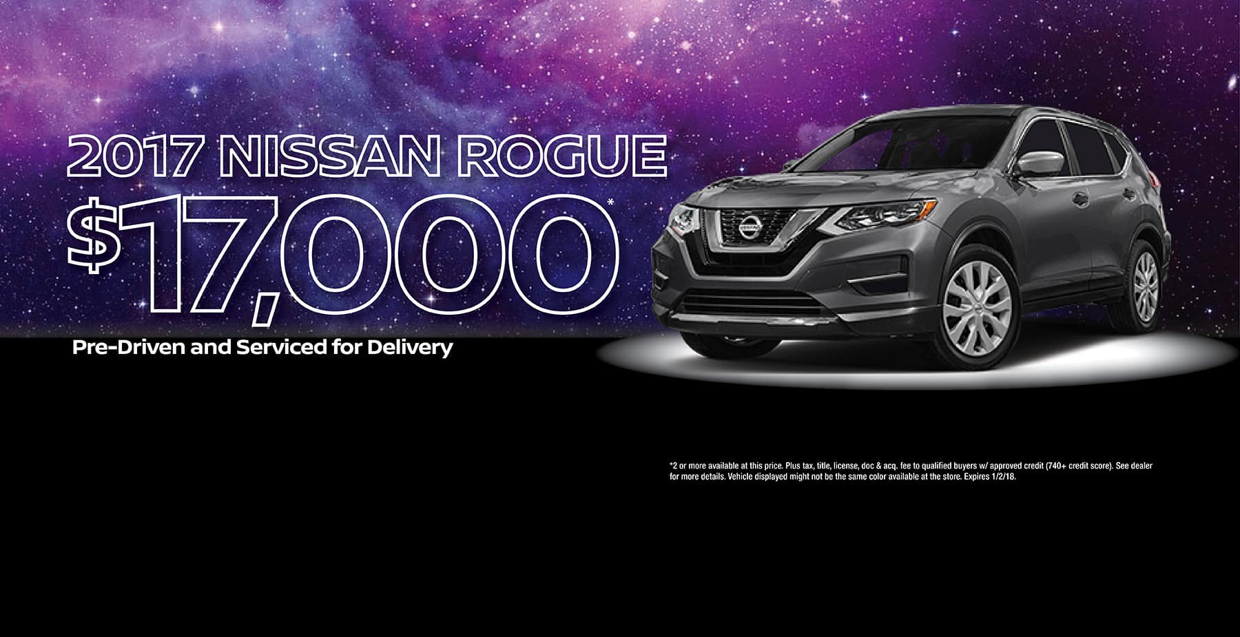 Star Nissan December Holiday Sale 2017 Nissan Rogue for $17,000!