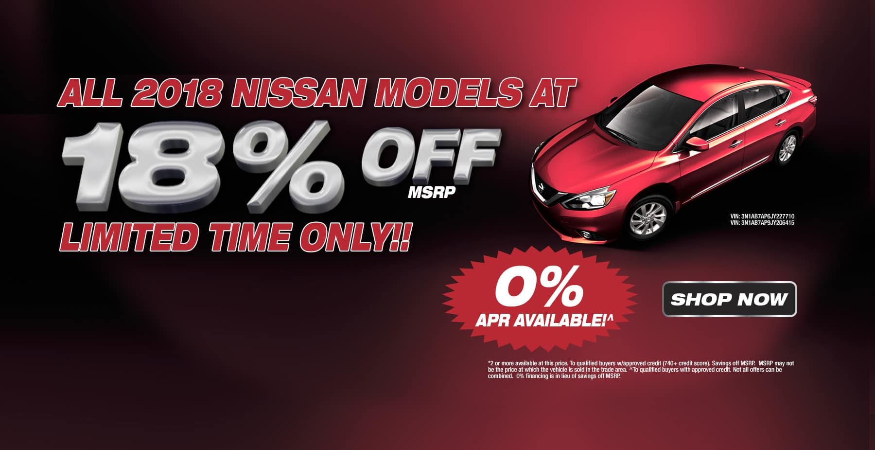 All 2018 Nissan Models at 18% OFF MSRP at Star Nissan!