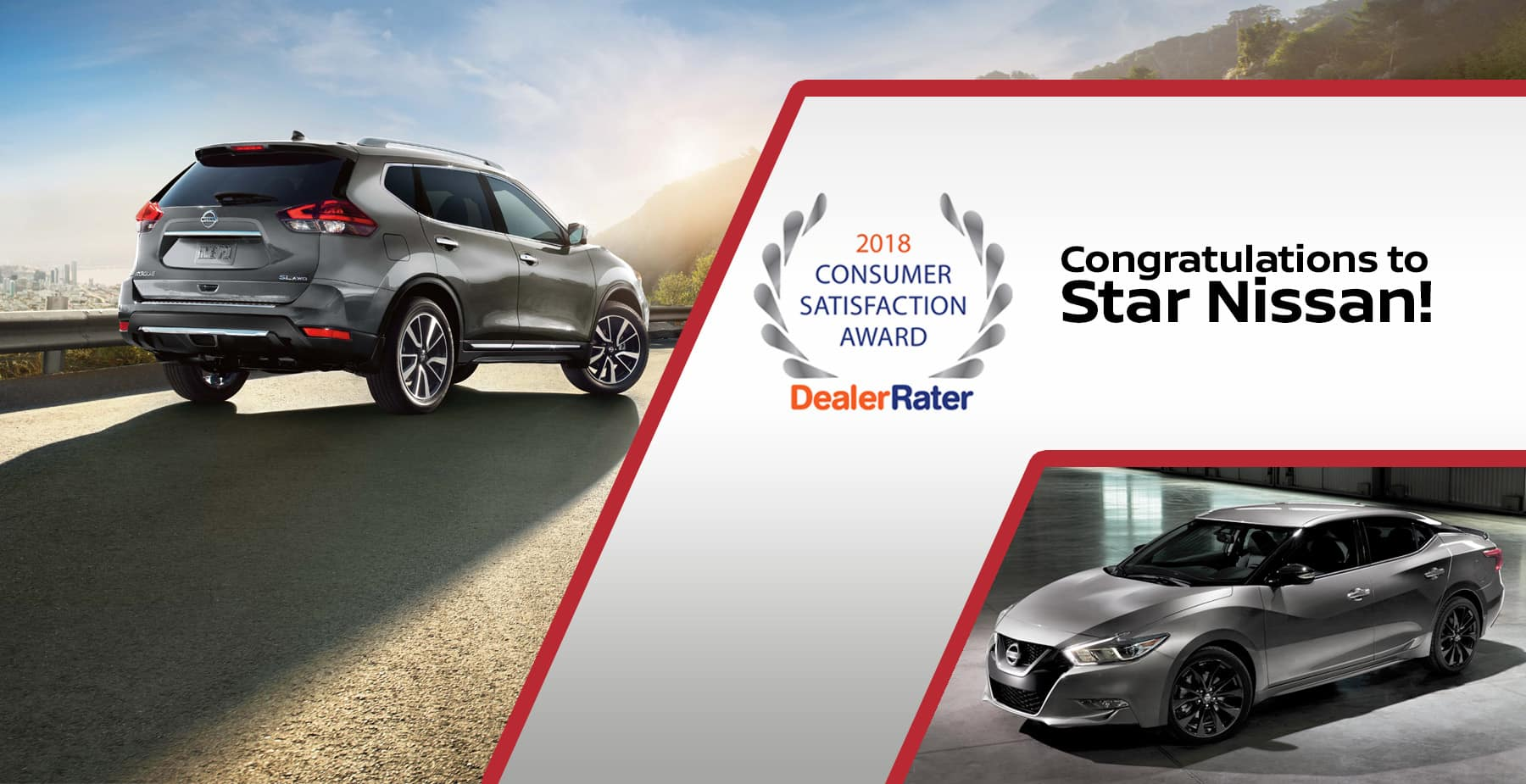 Star Nissan wins DealerRater 2018 Consumer Satisfaction Award!