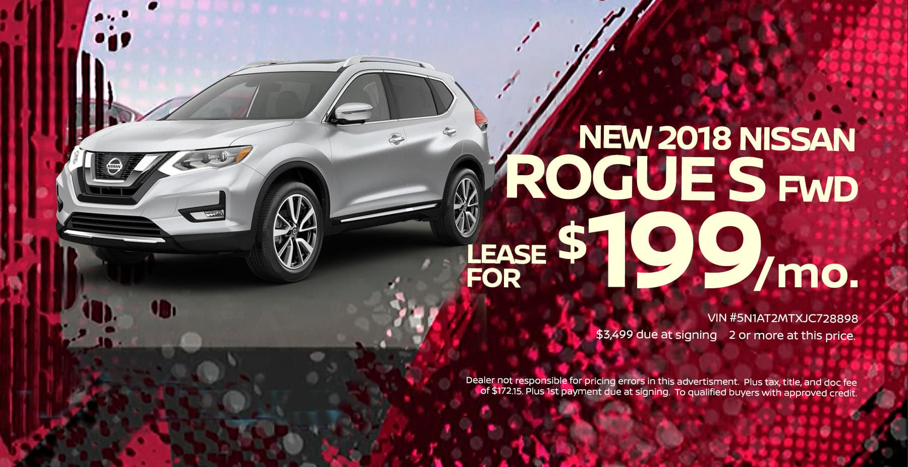 2018 Nissan Rogue March Lease Offer at Star Nissan!