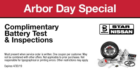 Arbor Day Special: Complimentary Battery Test & Inspections