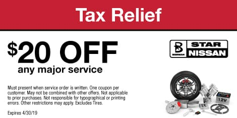 Tax Relief: $20 OFF any major service