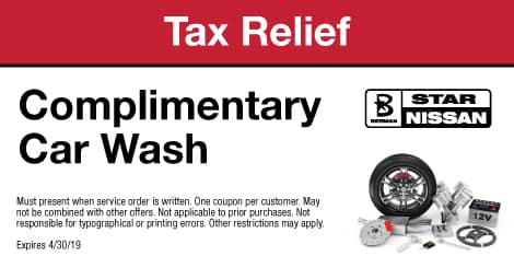 Tax Relief: Complimentary Car Wash