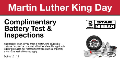 Martin Luthor King Day: Complimentary Battery Test & Inspections