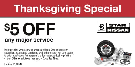 Thanksgiving Special: $5 OFF any major service