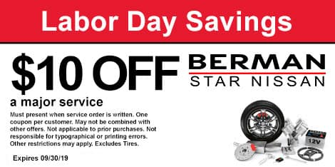 Labor Day Savings: $10 off a major service