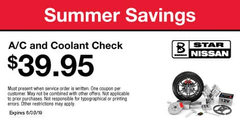 Summer Savings: A/C and Coolant Check $39.95