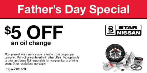 Father's Day Special: $5 OFF an oil change