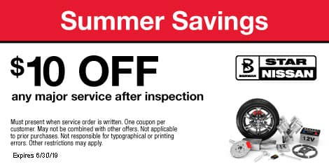 Summer Savings: $10 OFF any major service after inspection