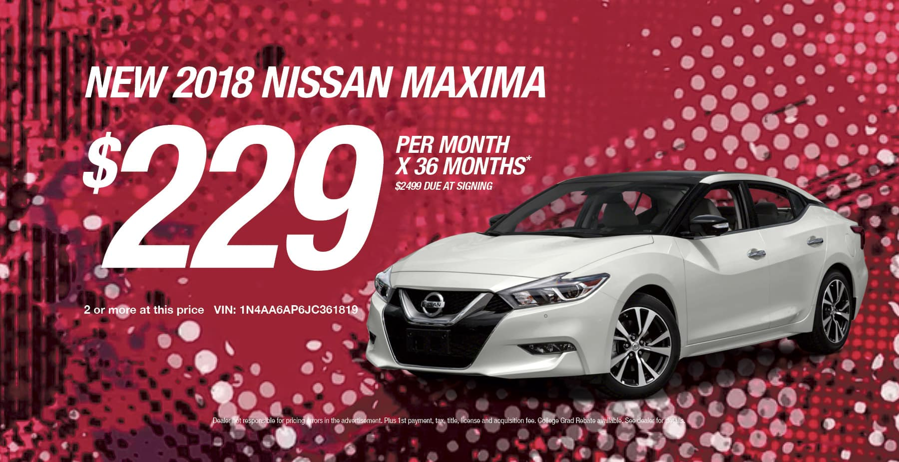 2018 Nissan Maxima March Sale at Star Nissan