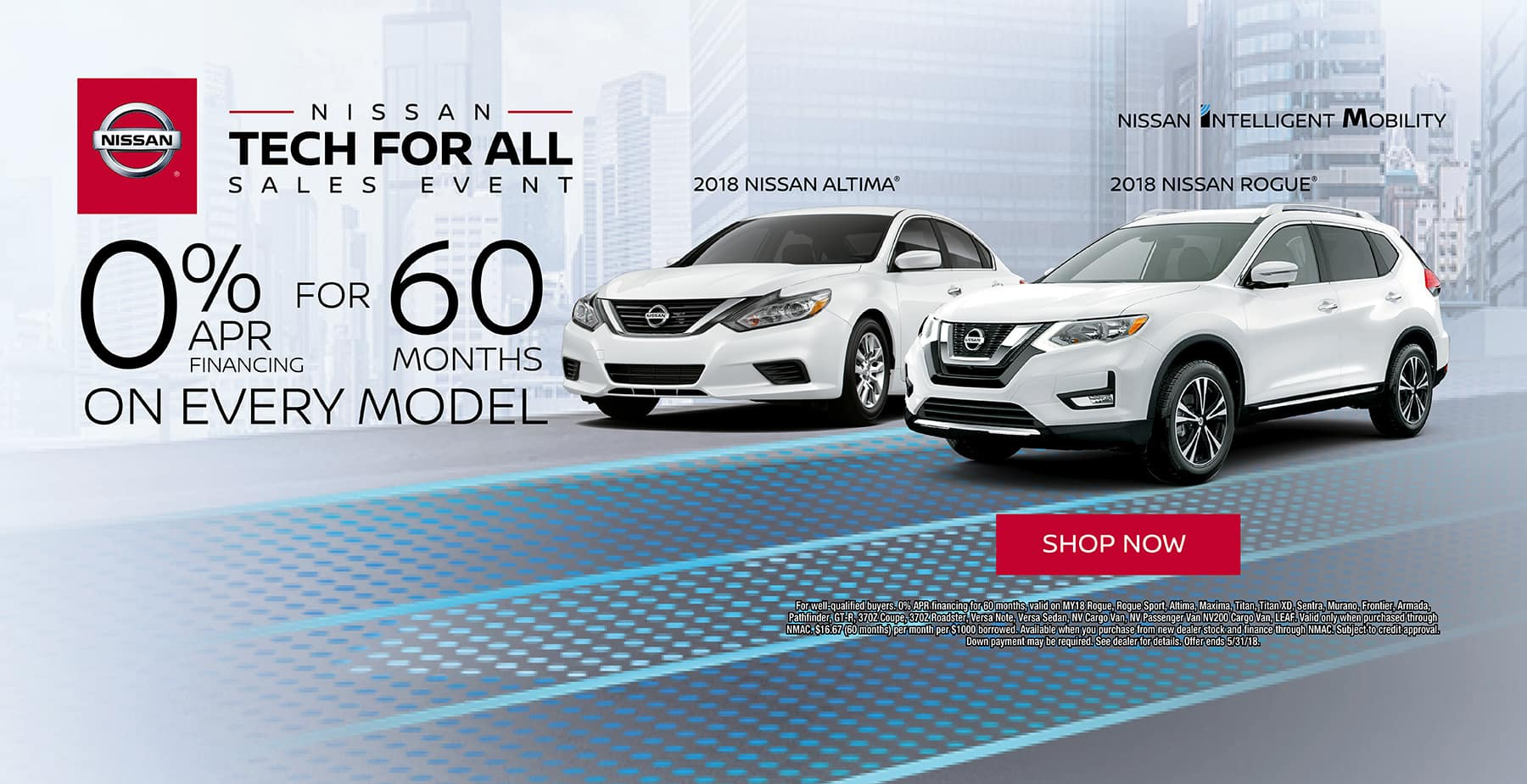 Time to Upgrade to a New Nissan with 0% for 60 months on all New Nissan Models during the Nissan Tech for All Sales Event at Star Nissan!