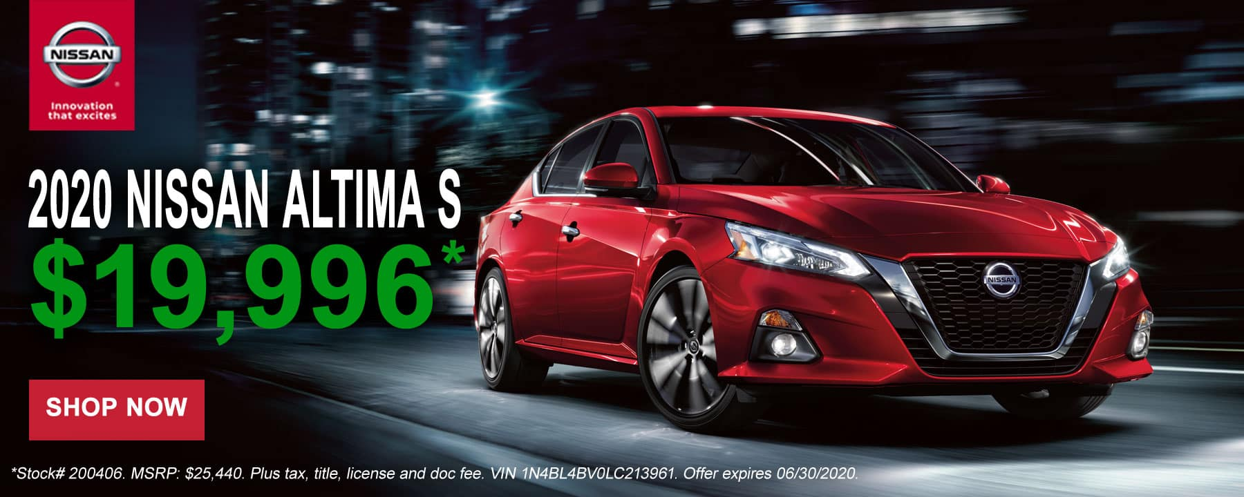 2020 Nissan Altima June Offer at Star Nissan
