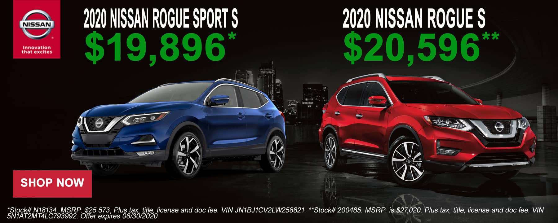 2020 Nissan Rogue and Rogue Sport June Offer at Star Nissan