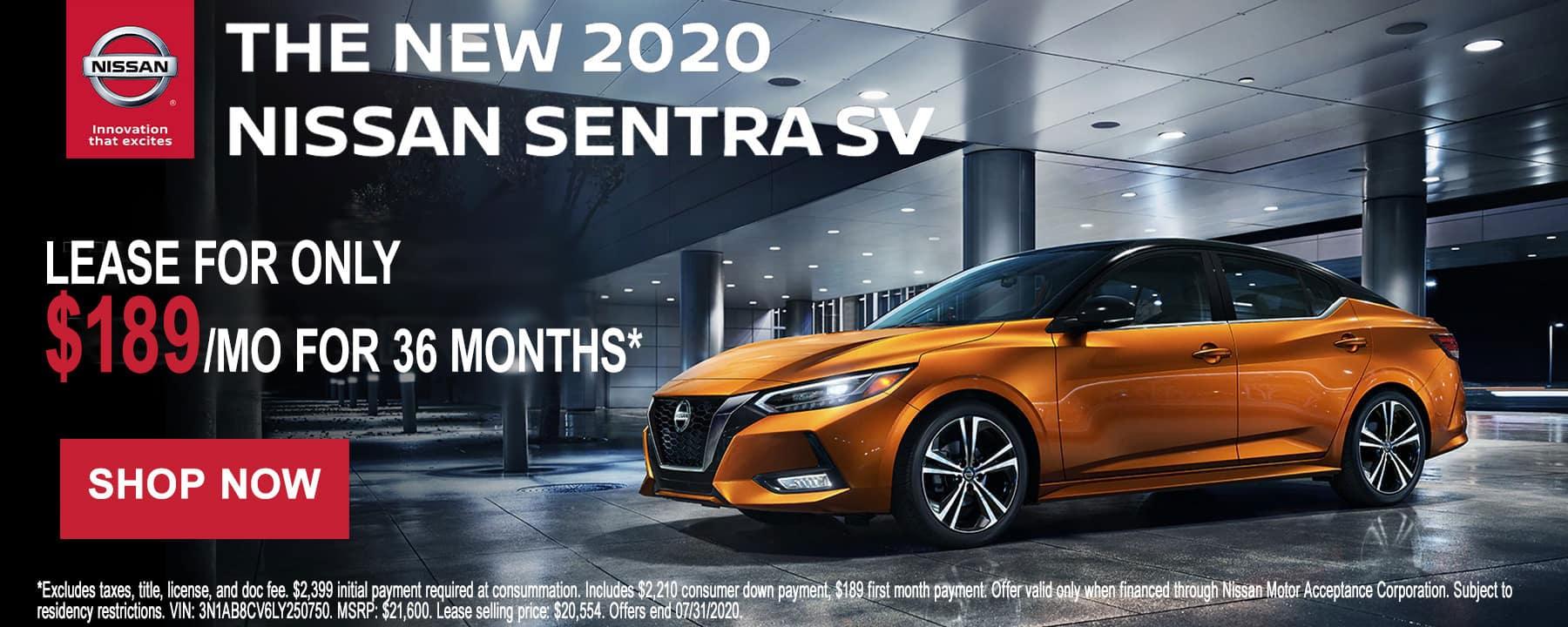 2020 Nissan Sentra July Offer at Star Nissan