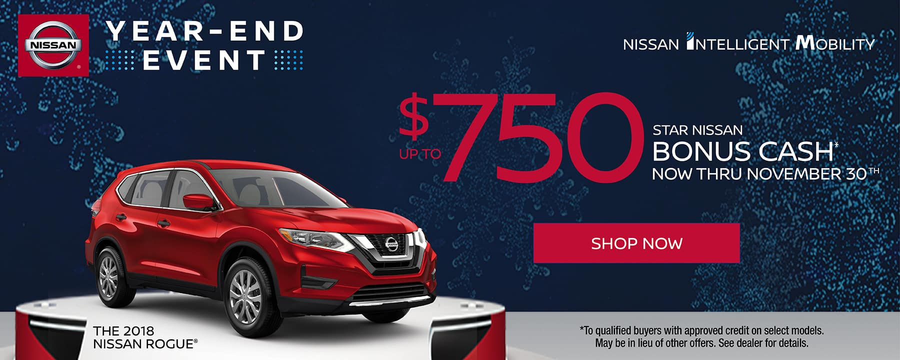 Get up to $750 Bonus Cash on the 2018 Nissan Rogue at Star Nissan!