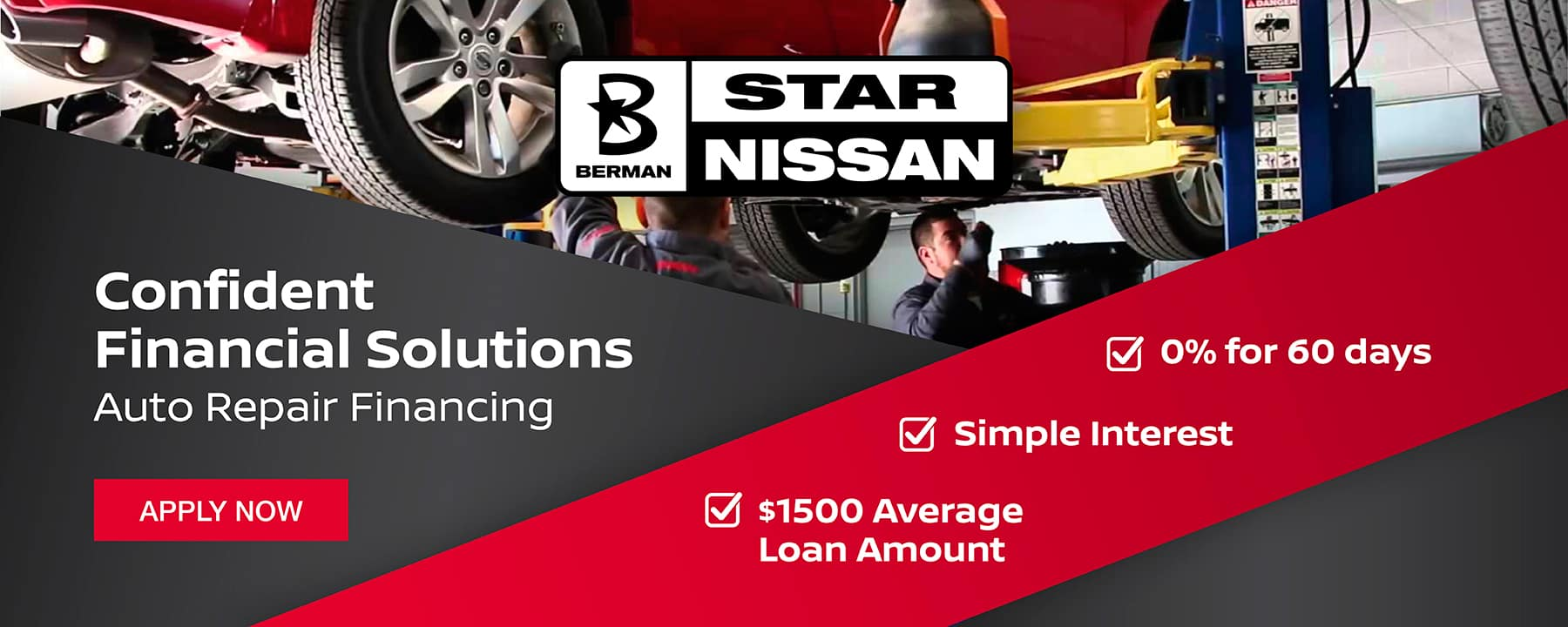 Service Financing is NOW available at Star Nissan!