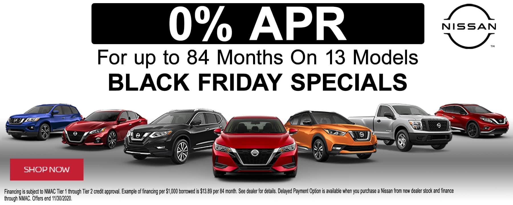 Take Advantage of Black Friday Specials and Get Zero Percent APR financing on Select Models