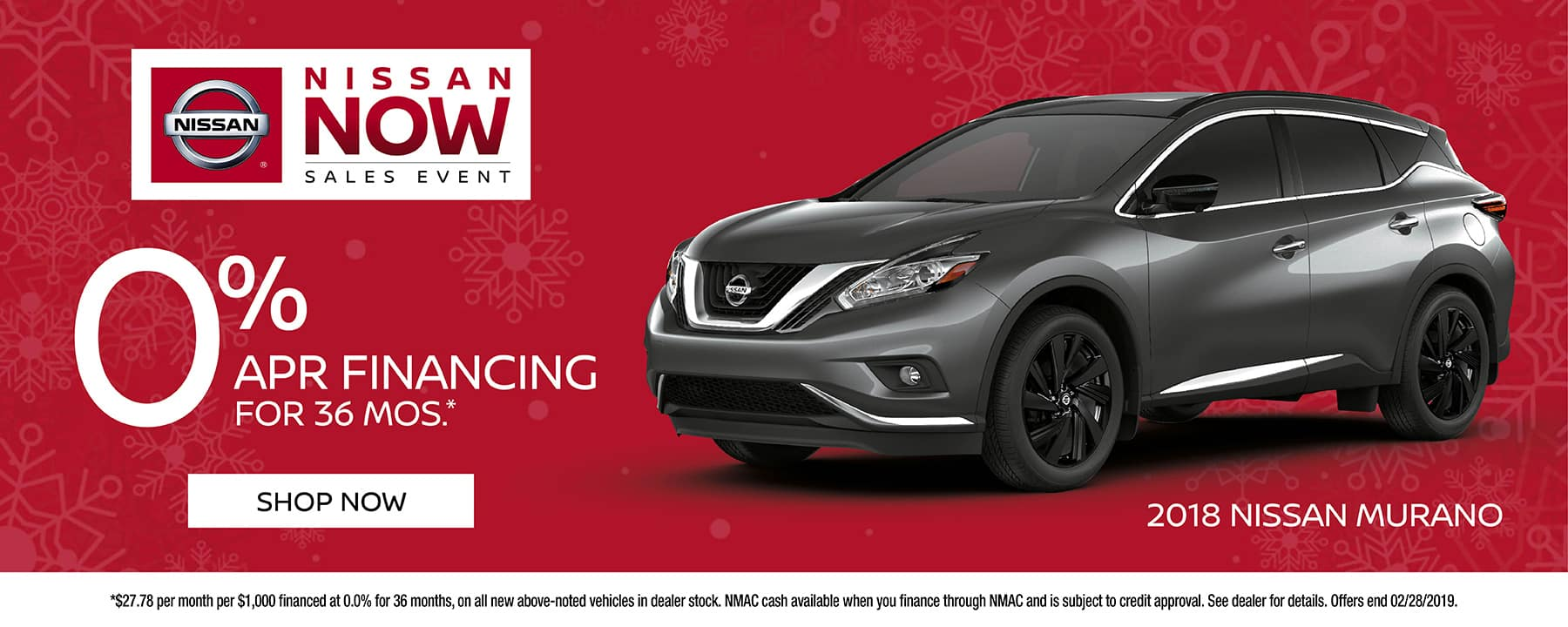 0% for 36 months available on 2019 Nissan Murano at Star Nissan!