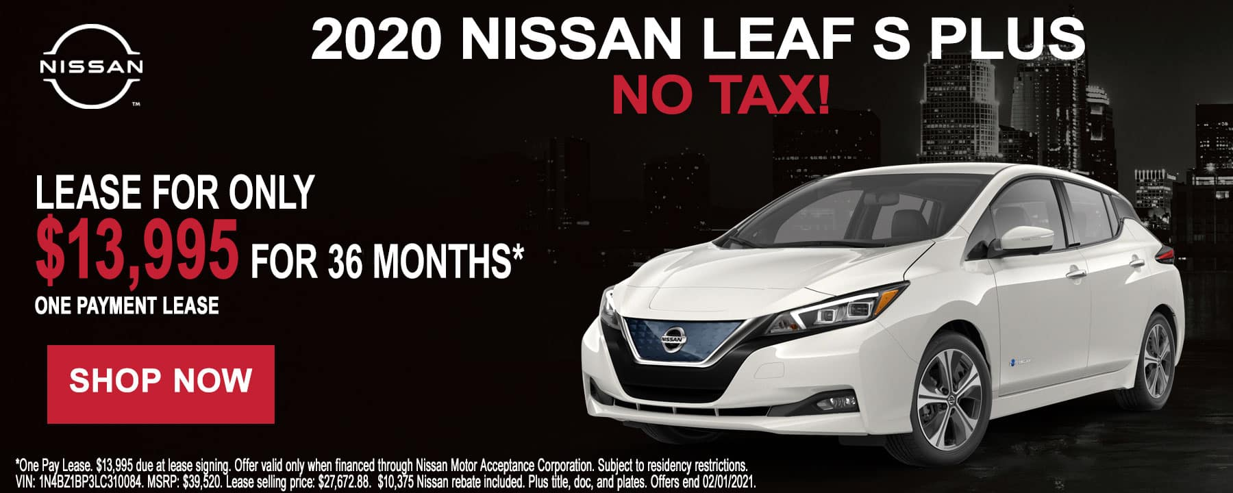 2020 Nissan LEAF January Lease Offer at Star Nissan