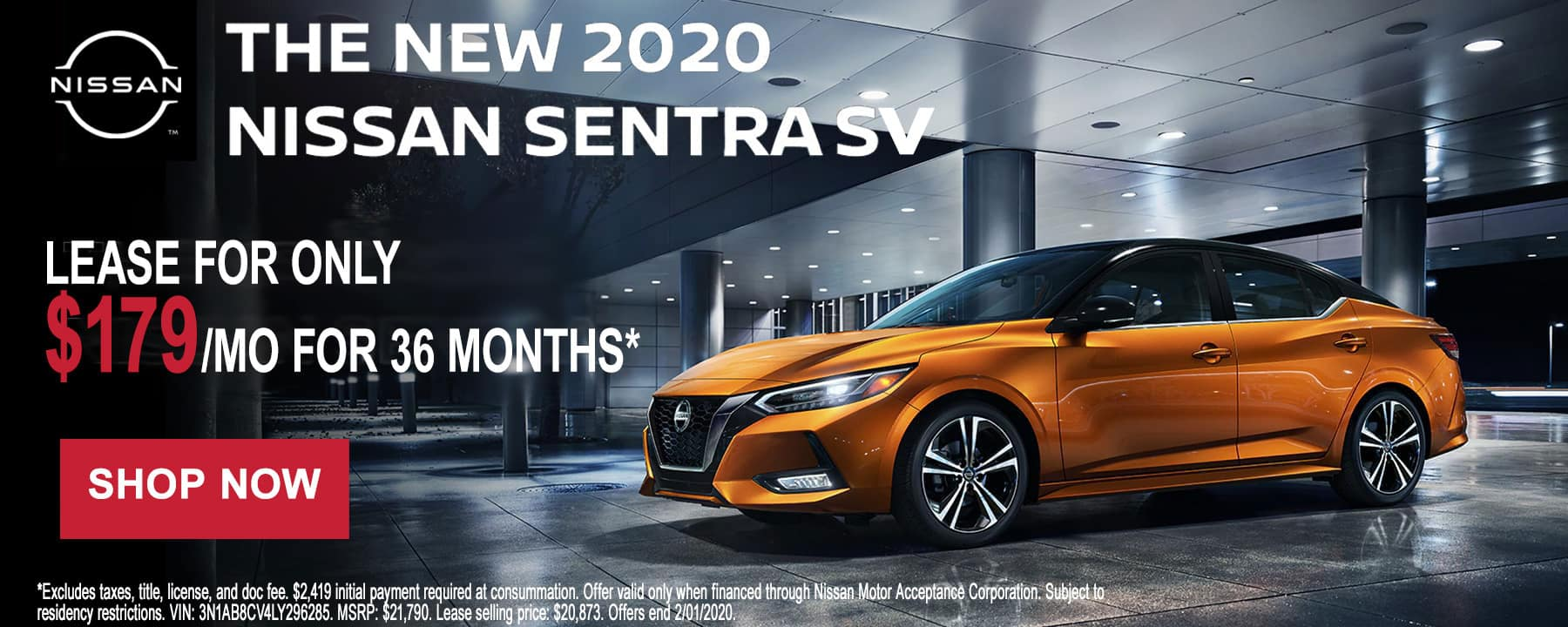 All-New 2020 Nissan Sentra January Lease Deal at Star Nissan