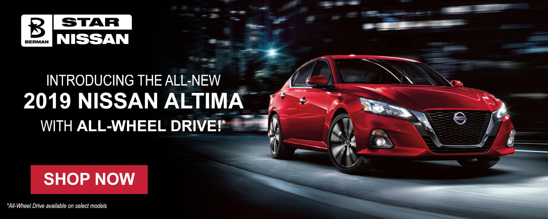 Introducing the all-new 2019 Nissan Altima with All-Wheel Drive!