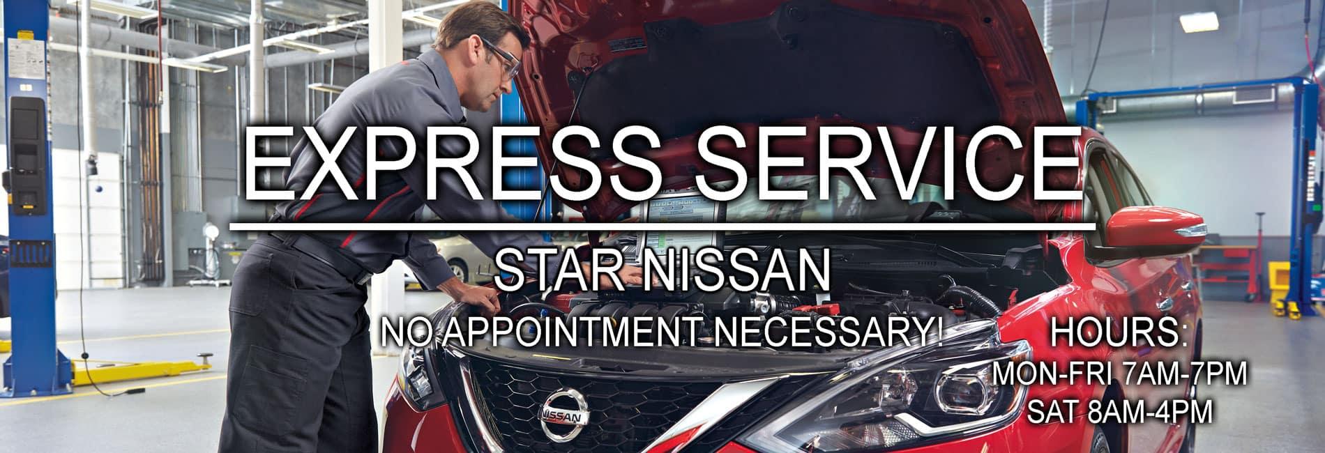 Express Service at Star Nissan