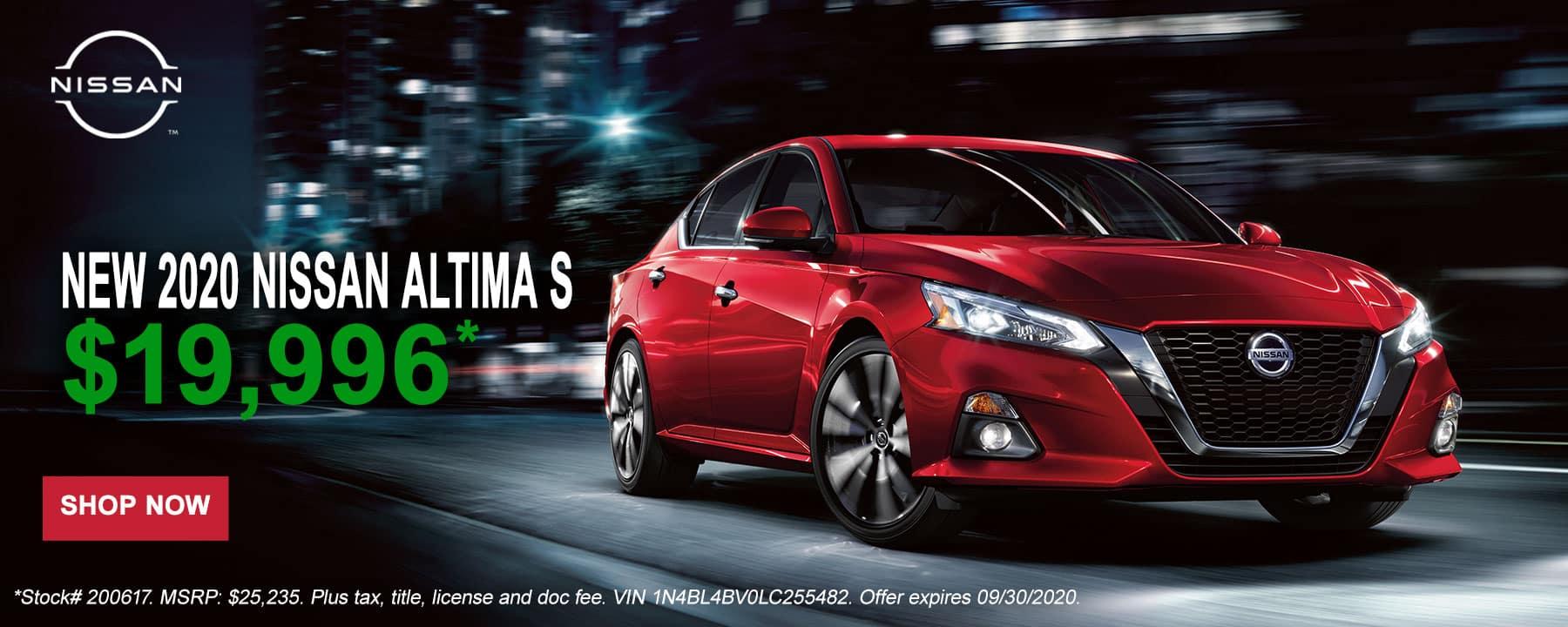 2020 Altima September Offer at Star Nissan