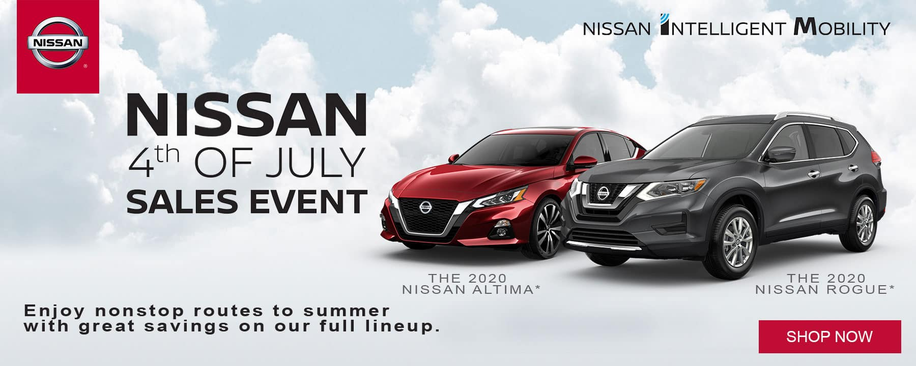 Visit us for Nissan's 4th of July Sales Event and start saving now!