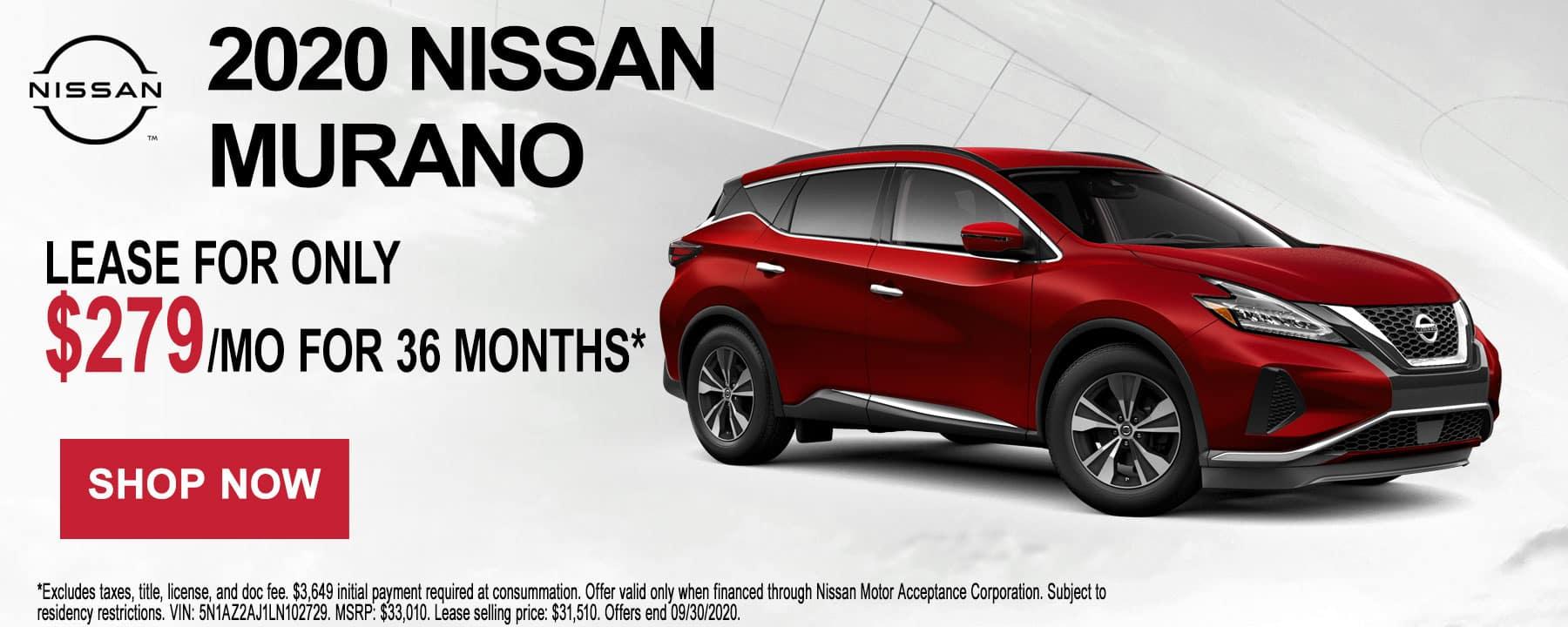 2020 Nissan Murano September Lease Offer at Star Nissan