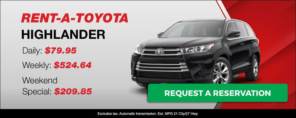 Stevens Creek Toyota Rental Car Highlander