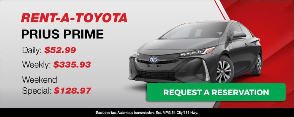 Stevens Creek Toyota Rental Car Prius Prime