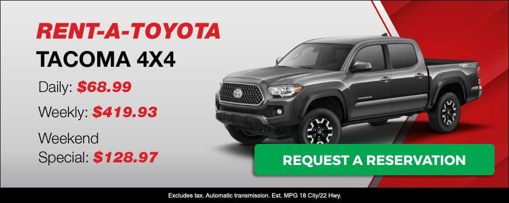 Stevens Creek Toyota Rental Car Tacoma 4x4 4dr
