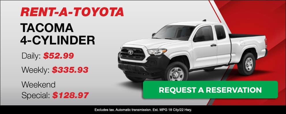 Stevens Creek Toyota Rental Car Tacoma