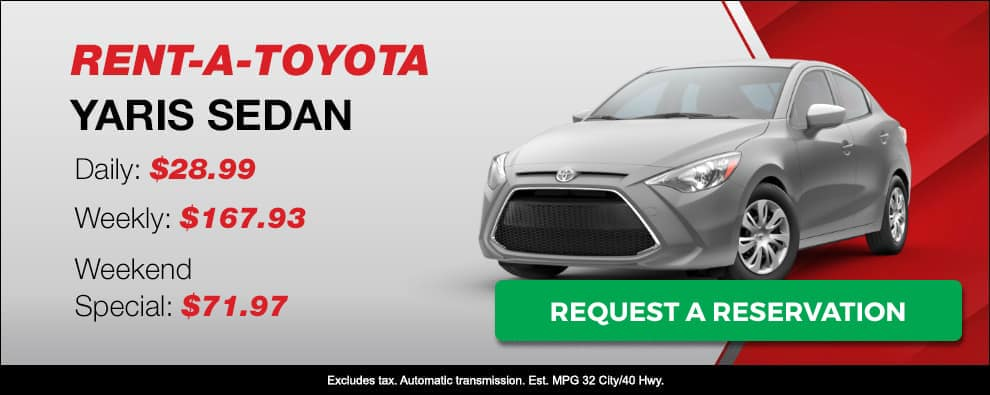 Stevens Creek Toyota Rental Car Yaris