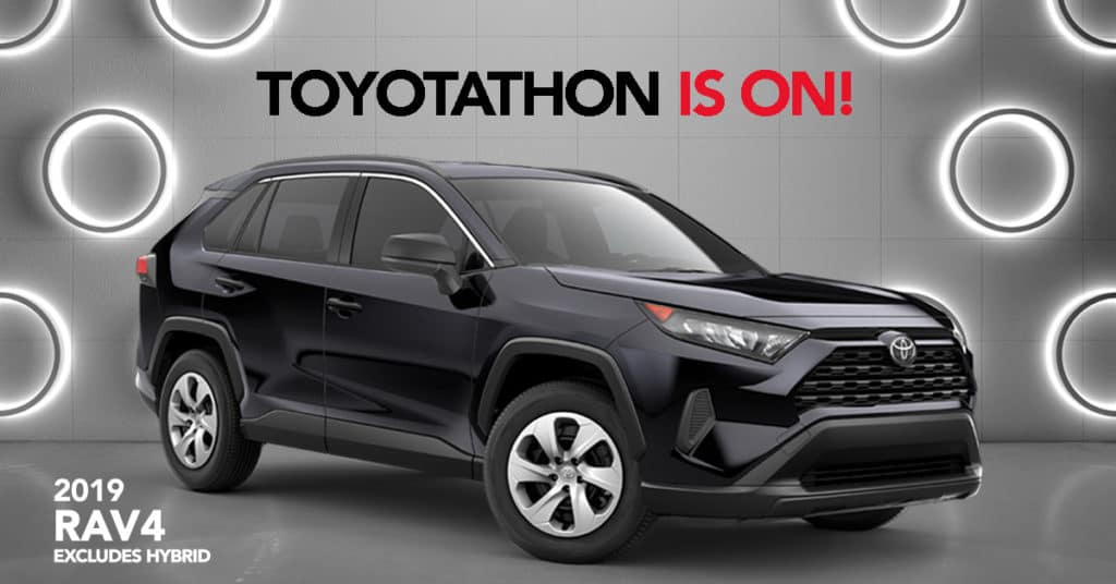 2019 RAV4 - 0.9% APR for 60 Months or $1,500 Customer Cash