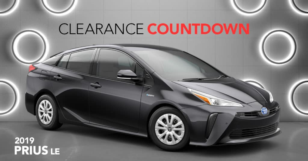 Lease a 2019 Prius LE for just $269/month + tax. for 36 mo. On Approved Credit
