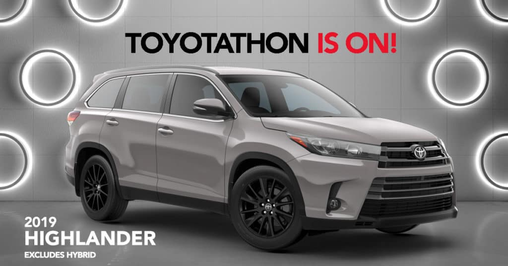 2019 Highlander - 0% APR for 60 Months or $2,500 Customer Cash. On Approved Credit