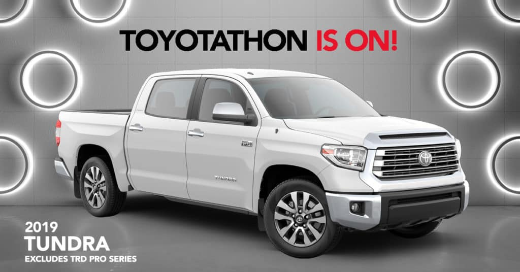 2019 Tundra (Excludes TRD Pro) - 0% APR for 60 Months or Get $4,000 Customer Cash - On Approved Credit