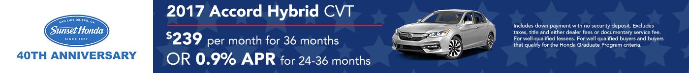2017 Accord Hybrid 0.9% APR