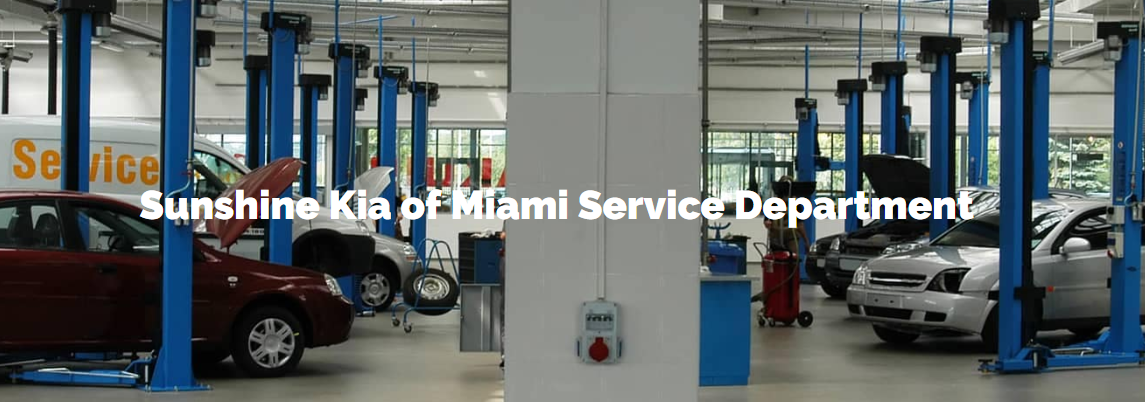 Service Department at Sunshine Kia in Miami