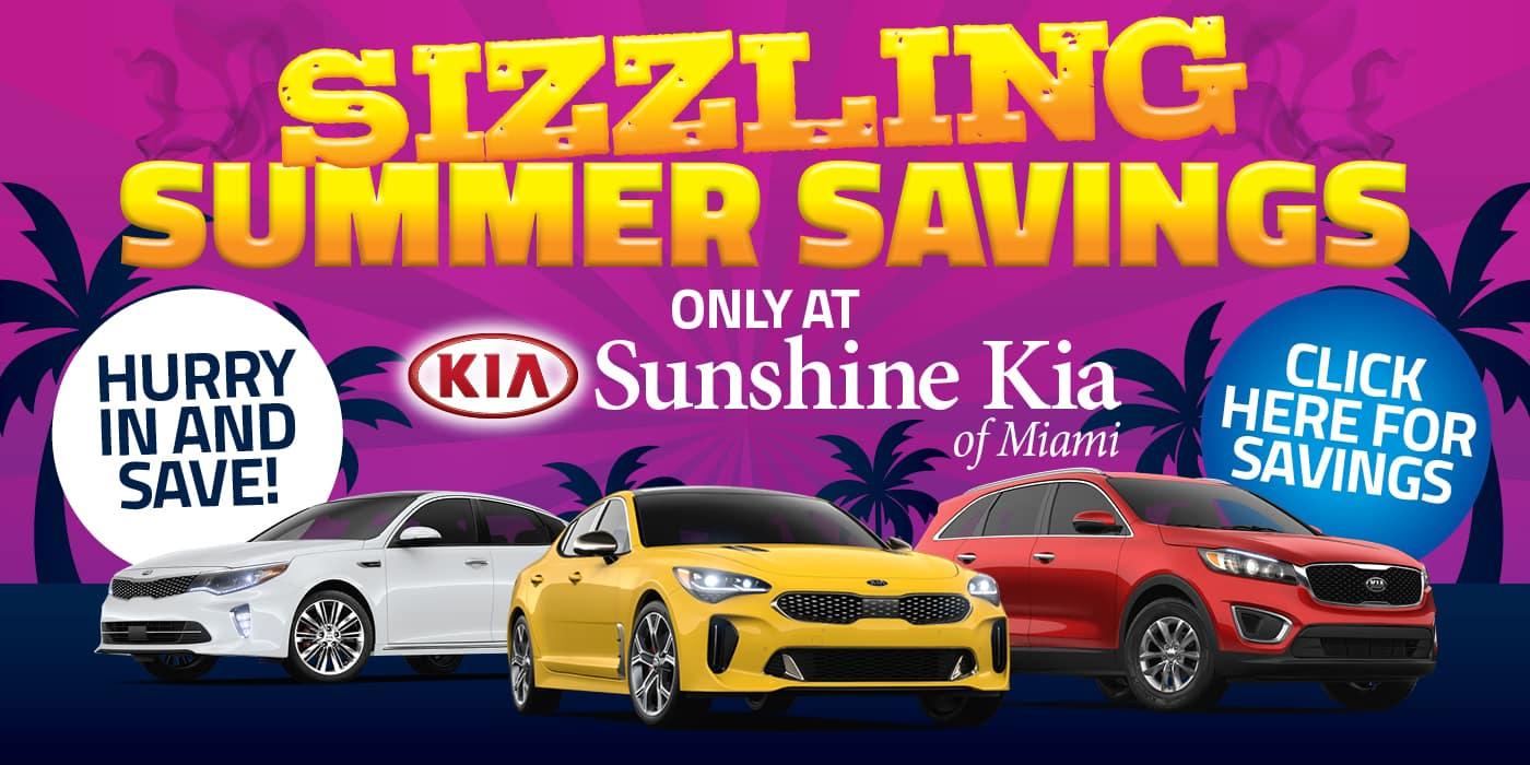 Sizzling Summer Savings banner