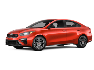 Angled view of the 2020 Kia Forte