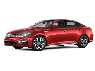 Angled view of the 2020 Kia Optima Hybrid