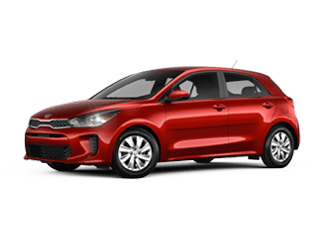 Angled view of the 2020 Kia Rio 5-door