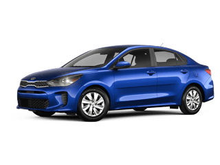 Angled view of the 2020 Kia Rio