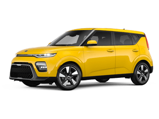Angled view of the 2020 Kia Soul