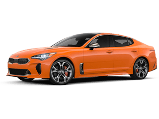 Angled view of the 2020 Kia Stinger