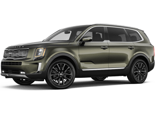 Angled view of the 2020 Kia Telluride
