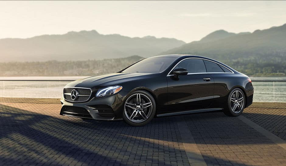 2018 Mercedes-Benz E-Class Coupe by the mountains
