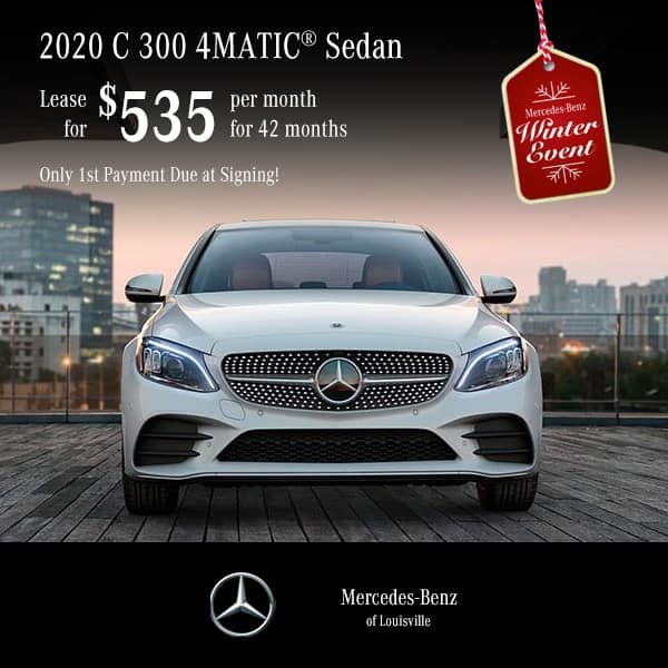 Lease a 2020 C 300 Sedan 4MATIC® - Only 1st Payment Due at Signing!